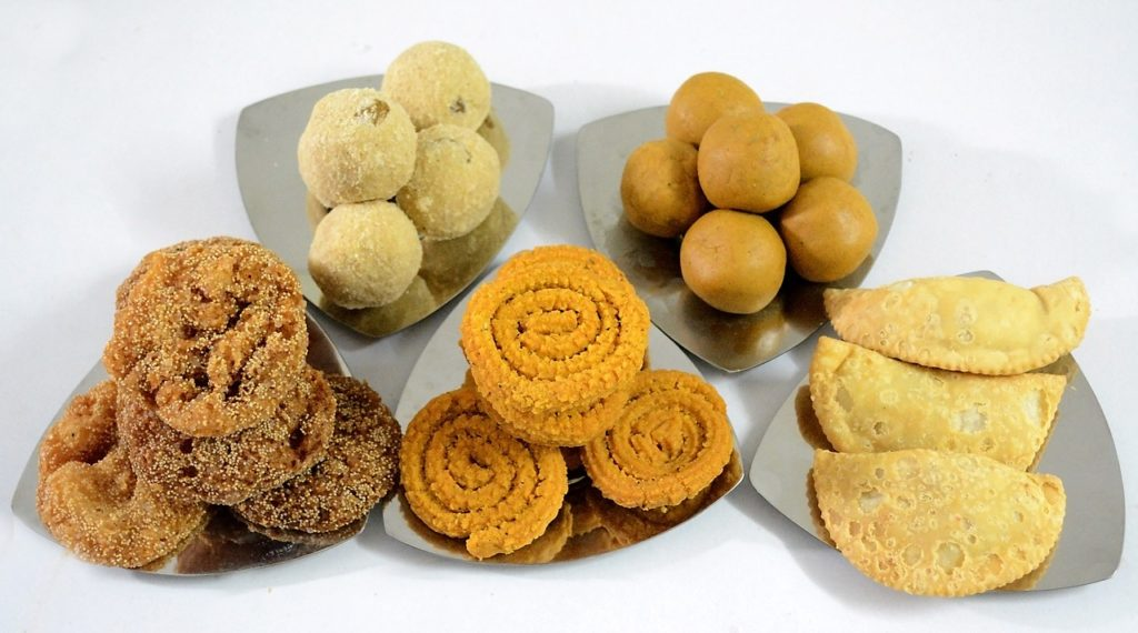 diwali festival snacks and sweets