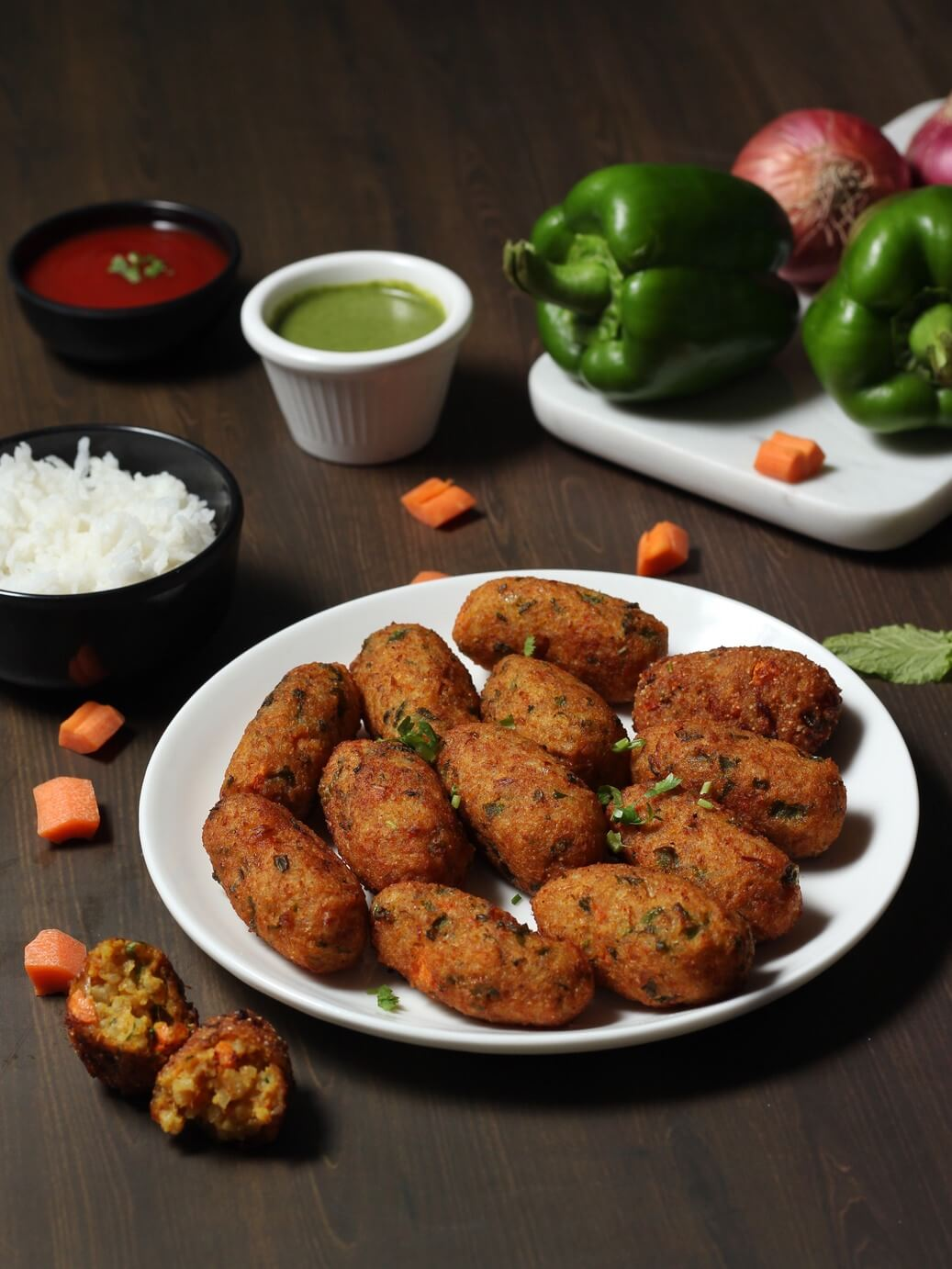 leftover rice pakoda